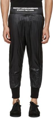 NILøS Black Taffetta Lounge Pants $675 thestylecure.com
