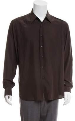 Prada French Cuff Silk Shirt