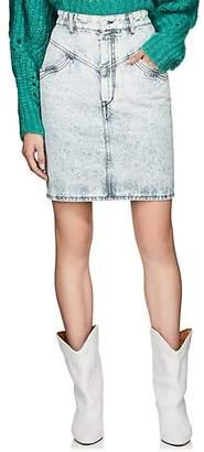 Isabel Marant Women's Lorina Denim Miniskirt - Blue