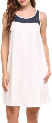 ACEVOG Sundress Petite Classy Above Knee Tunic Dress for Women