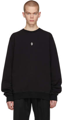 Marcelo Burlon County of Milan Black Heart Wings Sweatshirt