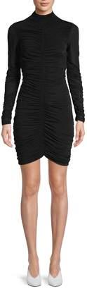 Diane von Furstenberg Ruched Long-Sleeve Sheath Dress