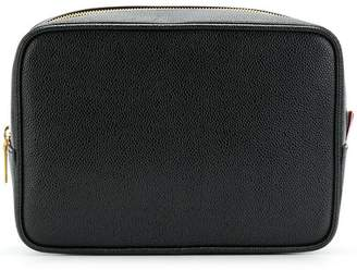 Thom Browne Pebble Grain Leather Wash Bag