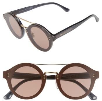 Jimmy ChooWomen's Jimmy Choo Monties 64Mm Round Sunglasses - Dark Grey/ Glitter/ Gold