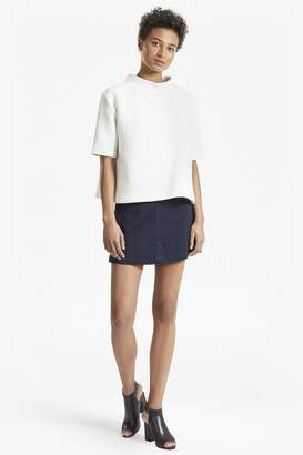 French Connection Snake Jacquard Denim Mini Skirt
