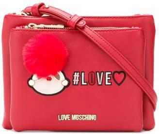 Love Moschino logo zipped shoulder bag