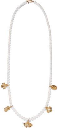Aurelie Bidermann Cheyne Walk Faux Pearl Gold-plated Necklace - one size