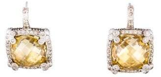 Judith Ripka 14K Canary Crystal & Diamond Drop Earrings