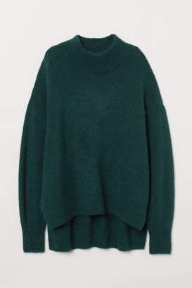H&M Mock Turtleneck Sweater - Turquoise