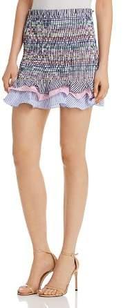 Do and Be Rainbow Smocked Mini Skirt