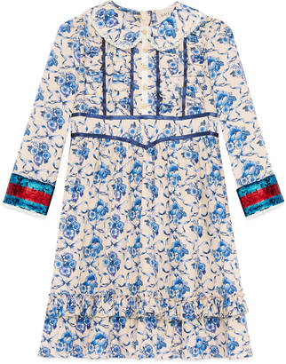 Children's porcelain print silk dress $1,450 thestylecure.com