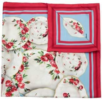 Dolce & Gabbana Printed silk foulard