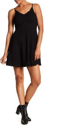Angie Rib Knit Ruffled Skater Dress