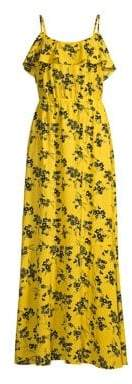 MICHAEL Michael Kors Ruffled Floral Maxi Dress