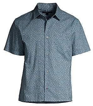 John Varvatos Men's Polka Dot Short-Sleeve Shirt