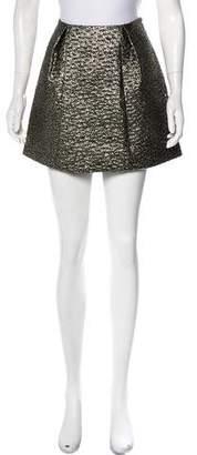 Tibi Brocade A-Line Skirt