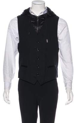 Dolce & Gabbana Hooded Satin-Trimmed Vest
