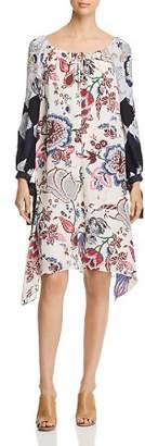 Tory Burch Happy Times Silk Floral-Print Dress
