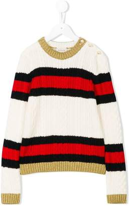 Gucci Kids striped jumper