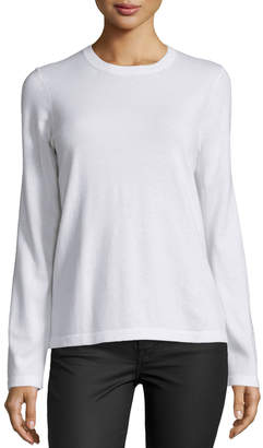 Michael Kors Long-Sleeve Jewel-Neck Sweater