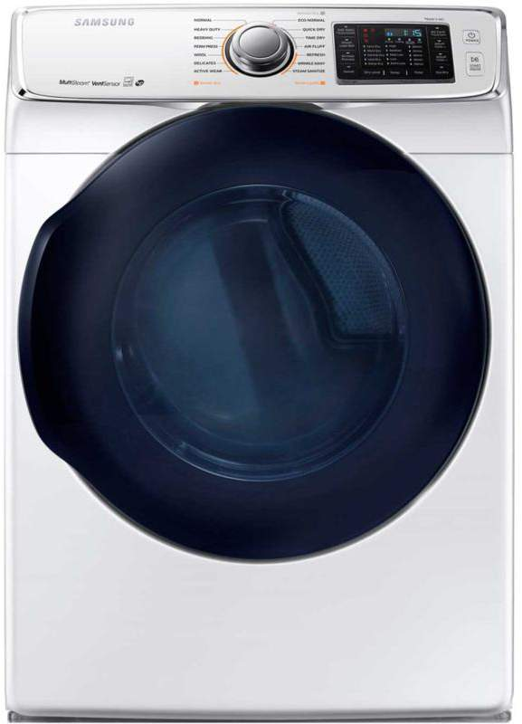 Samsung 7.5 cu. ft. 6500-Series Front-Load Electric Dryer with Multi-Steam Technology - White
