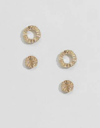 Pieces ear stud set