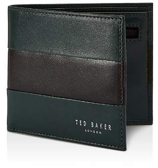 Ted Baker Stozip Contrast Leather Bifold Wallet with Zip Coin Pocket