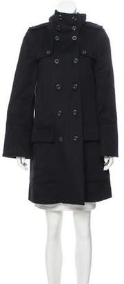 Burberry Double-Breasted Wool-Blend Coat