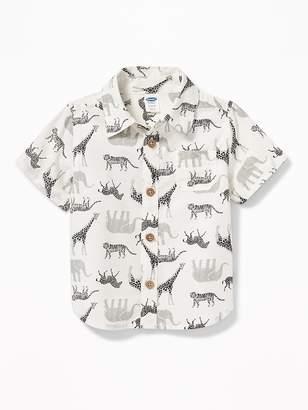 Old Navy Safari Animal-Print Shirt for Baby