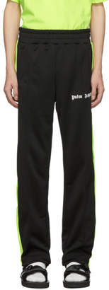 Palm Angels Black and Yellow Logo Track Pants