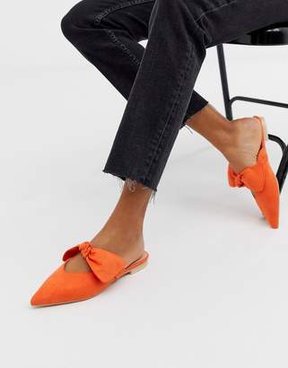 London Rebel flat bow mules