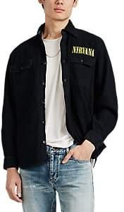 "Madeworn Men's ""Nirvana""-Appliquéd Cotton Shirt Jacket - Black"