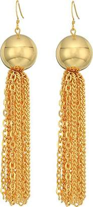 Kenneth Jay Lane Women's Ball with Tassel Fishhook Earrings