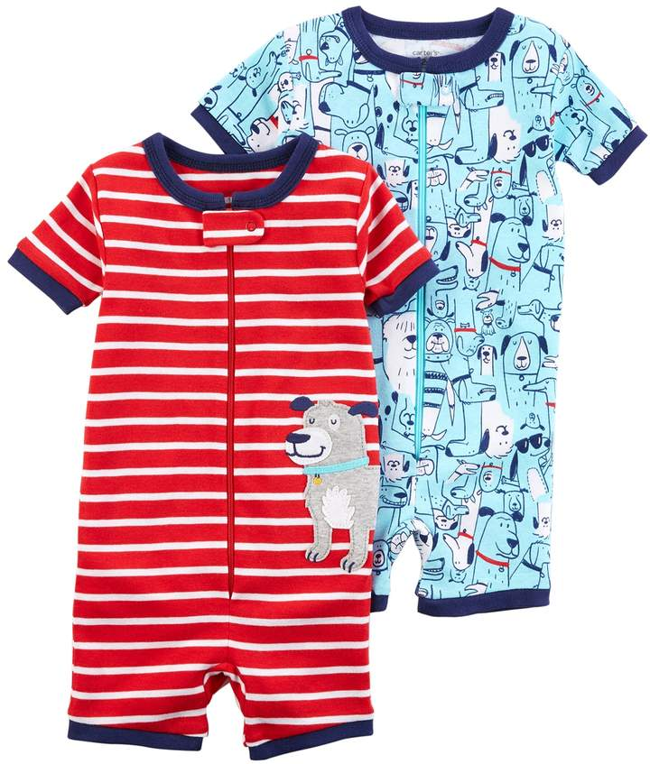 Baby Boy 2-pack Dog Rompers