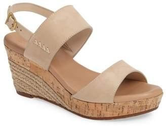 UGG Elena Platform Leather Wedge Sandal