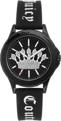Juicy Couture Ladies' Black Sparkle Crown Watch