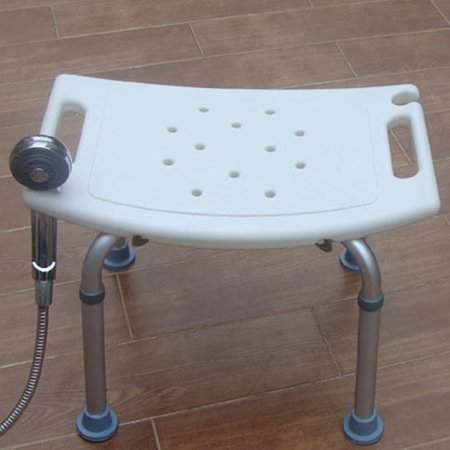 Generic White Bath Tub Safety Shower Stool Chair Seat Bench Non Slip Light Weight