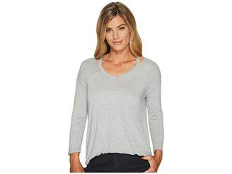 Tribal Long Sleeve Neck Detail Jersey Top Women's Long Sleeve Pullover