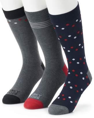 Men's Funky Socks 3-pack Polka-Dots Casual Crew Socks