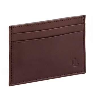 Lauren Ralph Lauren Leather Card Case With Money Clip
