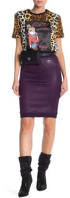 Love Moschino Quilted Skirt