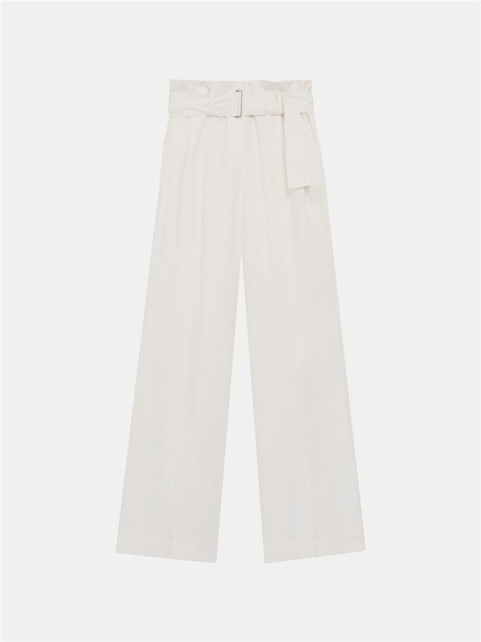 DKNY Dkny Pure Wide Leg Pant With Self Belt