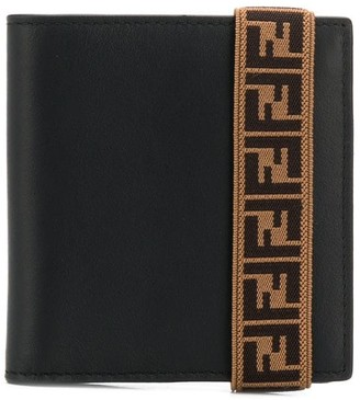 Fendi FF elasticated strap wallet