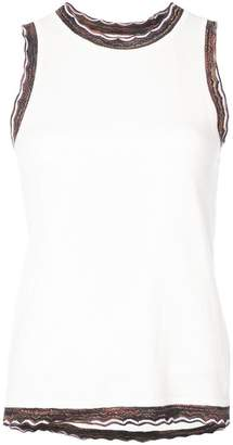 Derek Lam 10 Crosby Sleeveless Shell With Rib Trim
