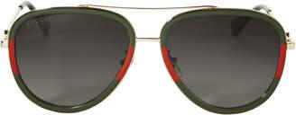 Gucci Bi-Color Aviator Sunglasses $400 thestylecure.com