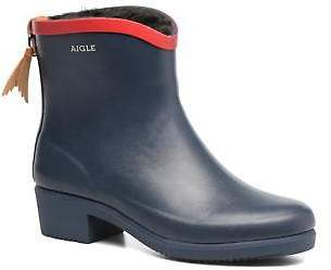 Aigle Women's Miss Juliette Botillon Fur Rounded toe Ankle Boots in Blue