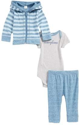 Nordstrom Reversible Zip Hoodie, Bodysuit & Pants Set