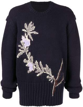 Jacquemus floral intarsia jumper