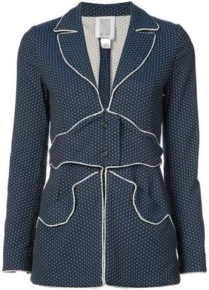 Rosie Assoulin polka dot fitted jacket