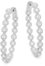 Bridal Diamond & White Gold Hoop Earrings